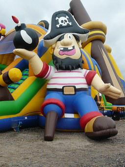Pirate Ship, Bouncy Castle, Air Cushion, Soft, Children