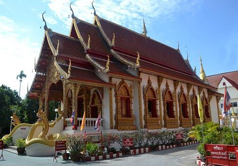 Chiang Mai, Thailand, Temple, Ancient, Buddhism