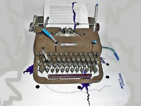 Art, Sculpture, Object, Typewriter, Poem Without End