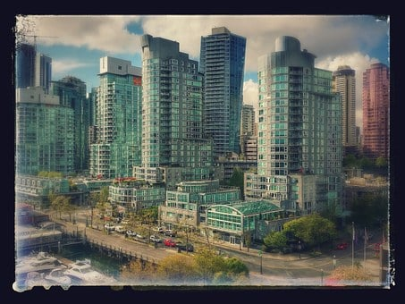 Coal Harbour, Vancouver, British Columbia, Buildings