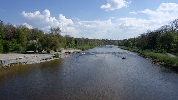 Zoo, Isar, River, Water, Munich