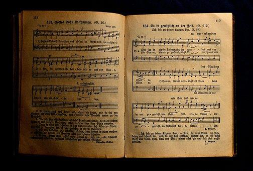 Book, Antiquariat, Hymnal, Music, Old Book, Church