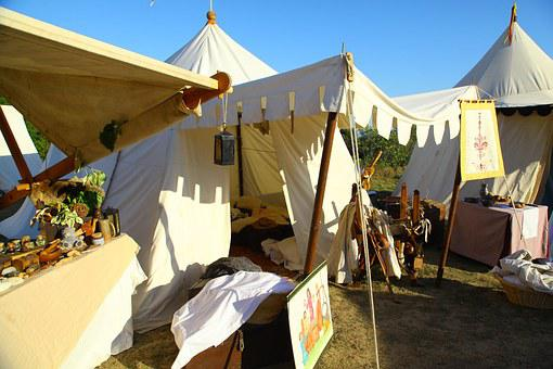 Medieval Festival, Tent, Camp, Knight, Weapons, Armor