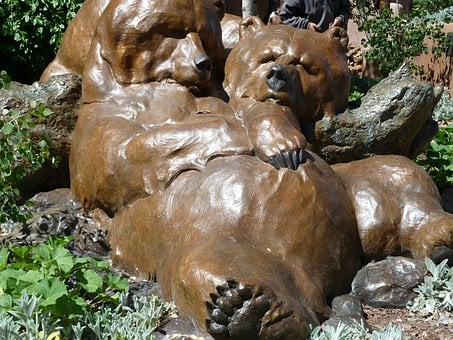 Bear, Statue, Metal, Art, Animal, Santa Fe, New Mexico