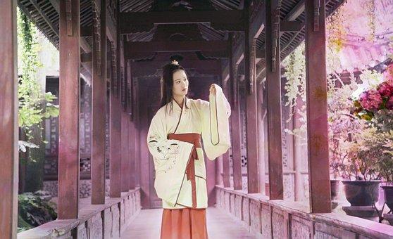 Woman, China, Antiquity, Beautiful, Color Mixing, Asia