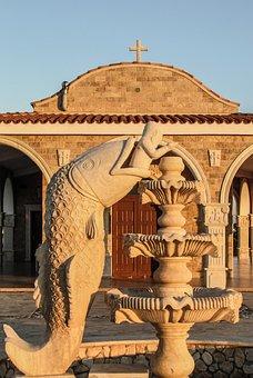 Cyprus, Ayia Napa, Ayios Epifanios, Jonas, Sculpture