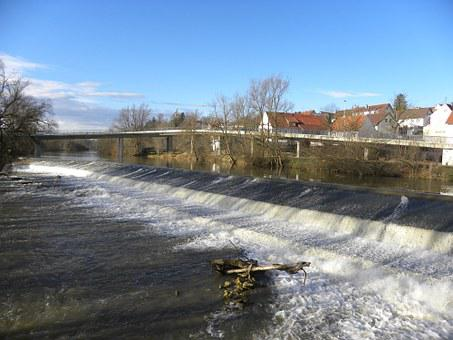Weir, Barrage, Danube, Rottenacker