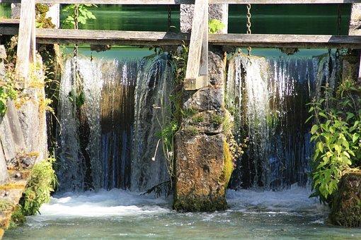 Blautopf, Blaubeuren, Waterfall, Barrage, Lock, Weir