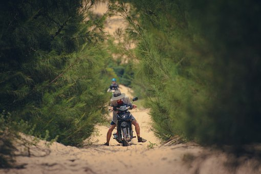 Bike, Sand, Downhill, Dust, Biking, Desert, Motocross