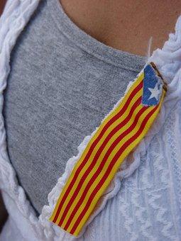 Estelada, Catalunya, Buttonhole, Detail, Symbol, Lable