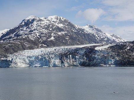 Alaska, Glacier, Mountain, Snow, Ice, Tracy Arm Fjord