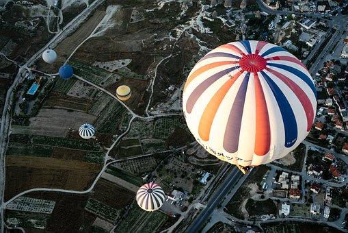 Adventure, Balloons, City, Hot Air Balloons, Outdoors