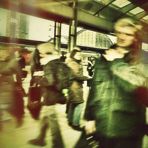 Human, Railway Station, Restless, Hustle And Bustle
