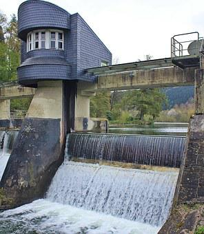 Weir, Dam, Jam System, Water, River, Lake, Building