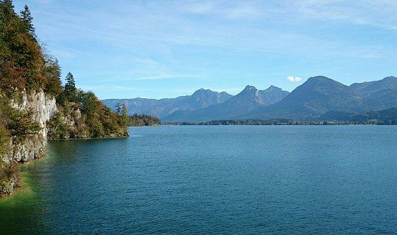 Austria, Lake, Landscape, Water, Mountains, Nature