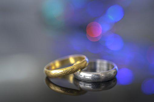 Engagement, Wedding, Bokeh, Two, Love, Pair, Ring, Gold