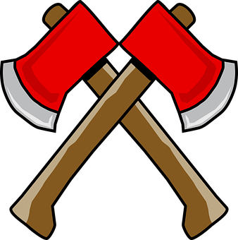 Axe, Hatchet, Lumber, Double, Blade, Wood, Metal, Work
