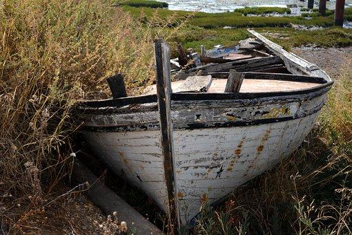Boot, Old, Ship, Maritime, Frack, Sea