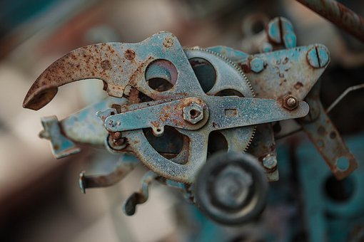 Close-up, Cog, Gear, Machine, Mechanism, Metal, Rust