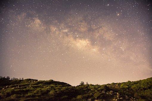 Star, Night, Mountain, Blue, Green, Milky Way, Pandora