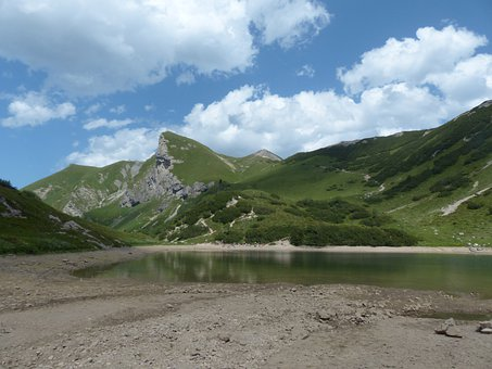 Pool, Lake, Schochen Top, Sulz Tip, Pallor, Mountains