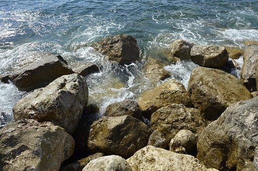 Sea, Roc, Rock, Blue, Nature, Wave, Cascais, Atlantic