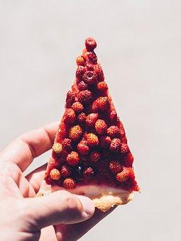 Raspberries, Strawberries, Fruits, Tart, Pie, Dessert