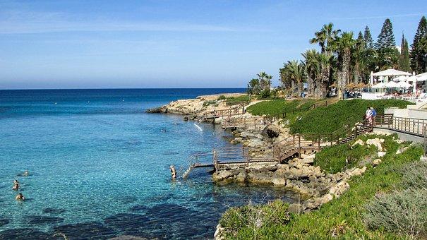 Cyprus, Protaras, Coastline, Resort, Recreation