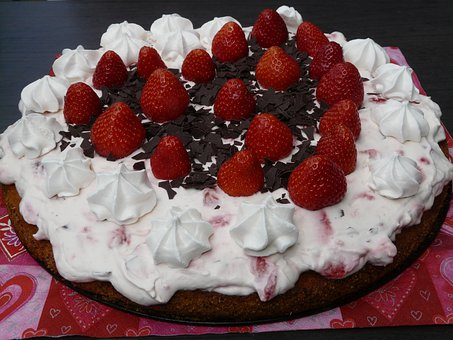 Cake, Strawberry Pie, Strawberries, Strawberry Cake