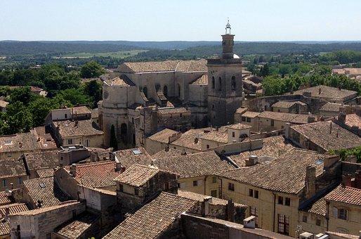 Uzès, Village, Roof, Roofing, Southern France