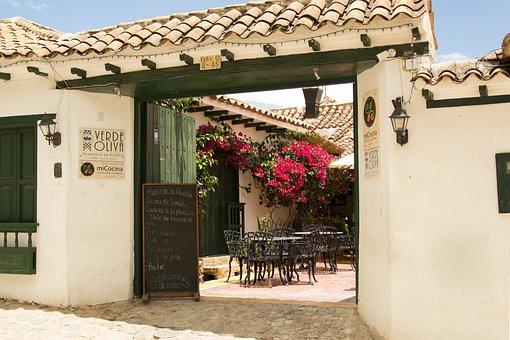 Villa De Leyva, Boyaca, Restaurant, Colombia, Old