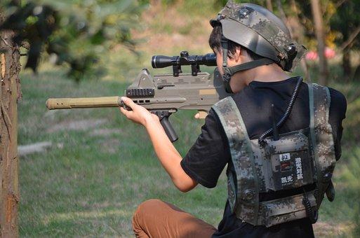 Laser, Tag, Game, War, Gun, Weapon, Army, Electronics