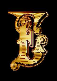 E, Letters, Alphabet, Russian, Johndoe, The Word, Gold