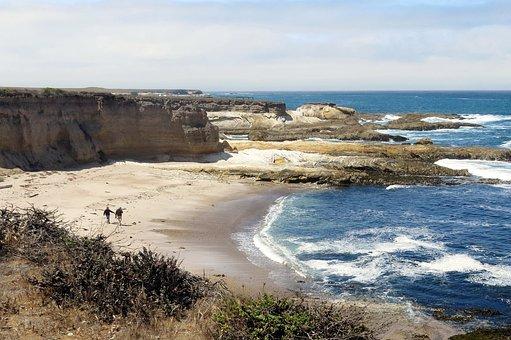 Beach, California, Shore, San Luis Obispo, Waves