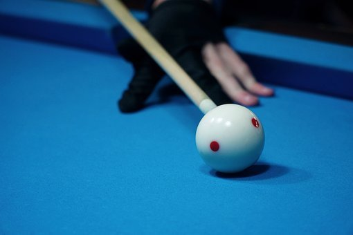 Billiards, Kick Off, White, Ball, Queue, Glove