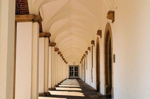Building, Castle, Arches, Historically, Aurich, Pillar