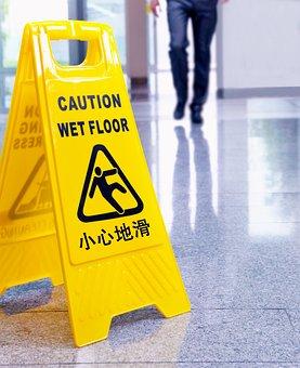 Mark, Heads Up, Slip, Slippery Floor, Cautious, Sign