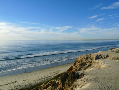 California, Beach, Sky, Seaside, Sand, Shore, Coastline