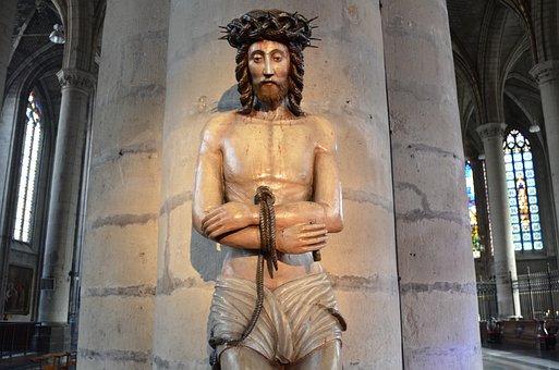 Jesus, Crown, Thorn, Lille, Picture, Pillar, Religious