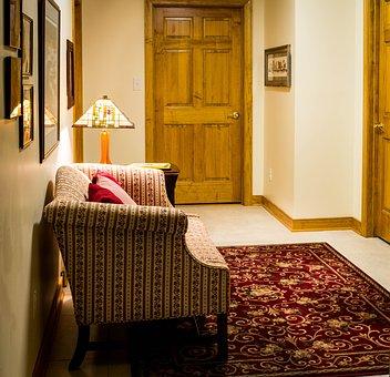 Hallway, Hall, Passageway, Corridor, Furniture, Sofa
