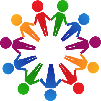 Circle, Colorful, Cooperation, Holding Hands, Human
