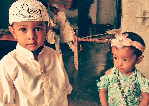 Children, Muslim, Ramadan, Boy, Girl, Holiday, Happy