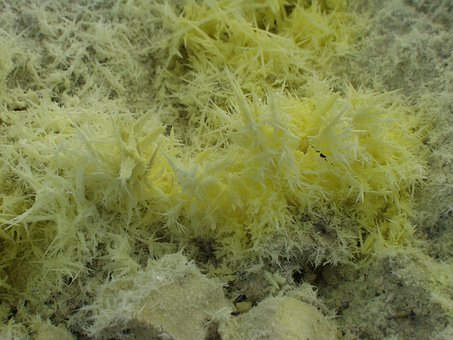 Sicily, Sulfur, Crystals, Italy, Volcanism, Volcanic