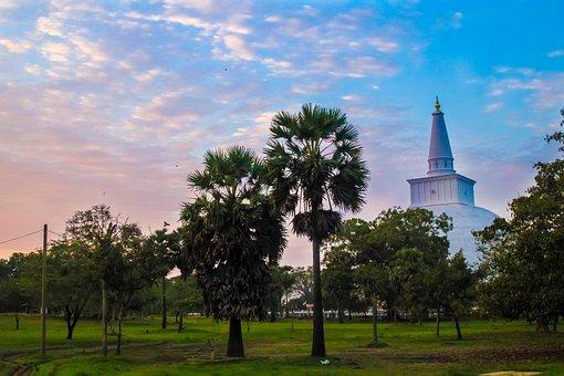 Stupa, Landscape, Asia, Travel, Buddhism, Religion