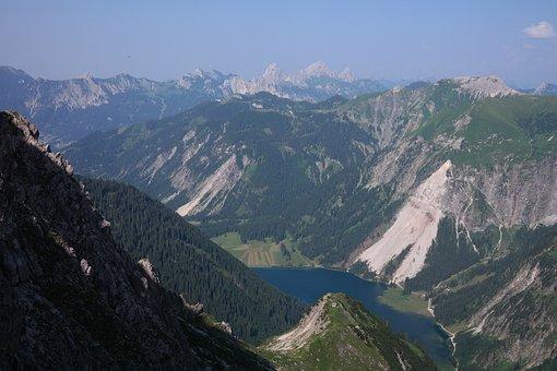 Vilsalpsee, Rock Fall, Landslide, Hang Slipping