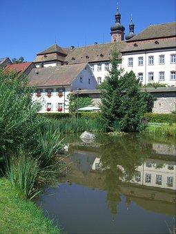 St Peter, Monastery, Pond, Mirroring, Tower