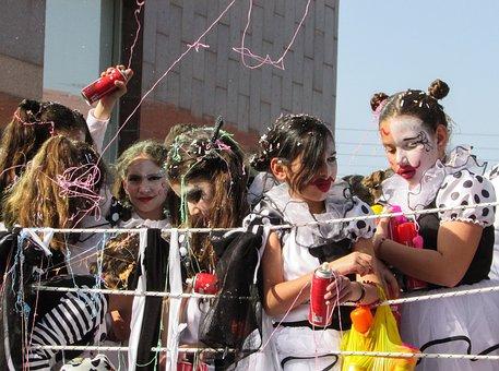 Carnival, Costume, Girls, Kids, Fun, Party, Parade