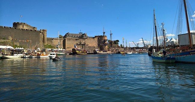 Brest, Port, Military, Castle, The Penfeld, River