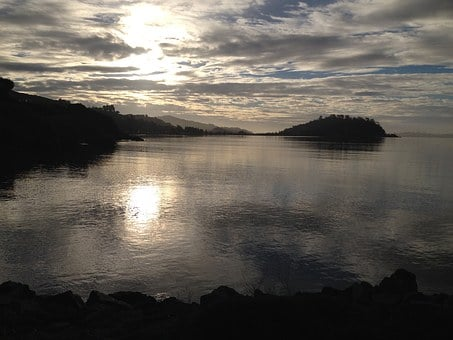 Tiburon, California, San Francisco, Coastline, Sunrise