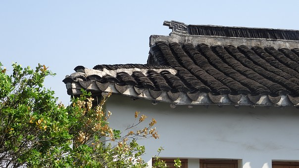 China, Suzhou, Eaves, Roof, Asia, Style